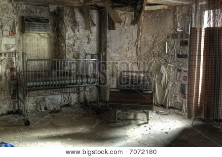 Broken Hospital Beds