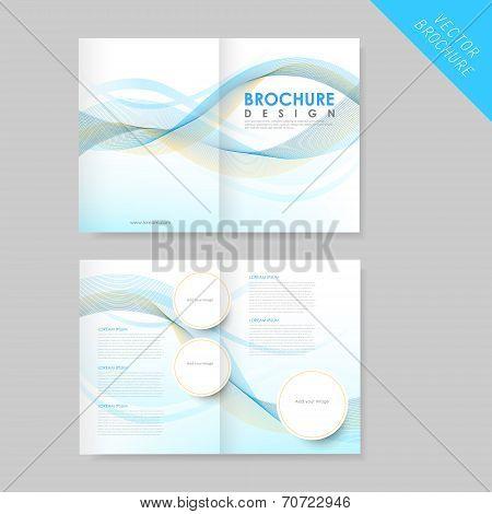 Modern Streamlined Half-fold Brochure Template