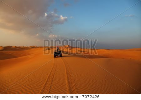 Atv Ride In The Desert