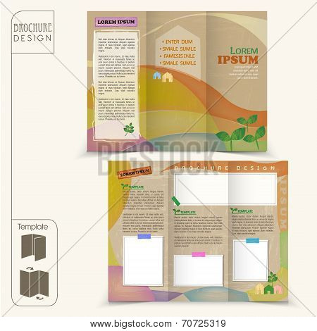 abstract tri-fold fairy style template for business advertising brochure poster