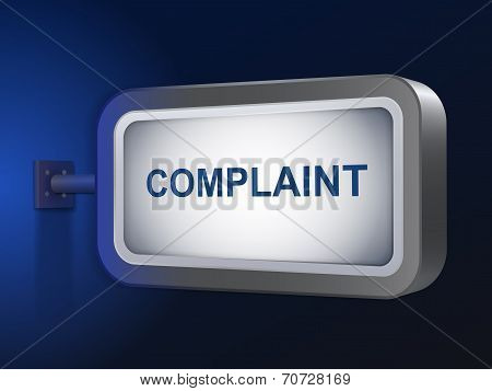 Complaint Word On Billboard