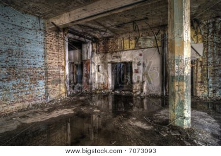 Colorful Abandoned Room