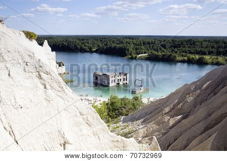 Open Cast Sand Mine As Swimming Place