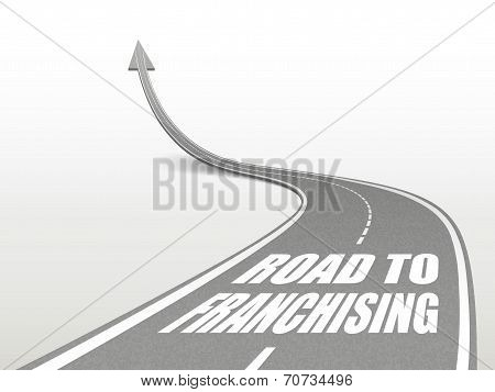 Road To Franchising Words On Highway Road