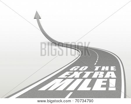 Go The Extra Mile Words On Highway Road