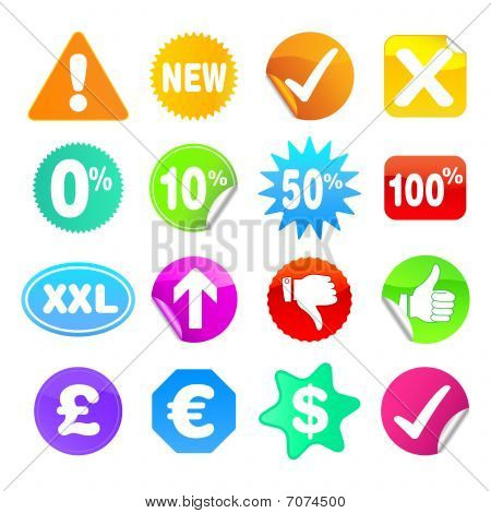 Bright Stickers - Set 3 - Symbols