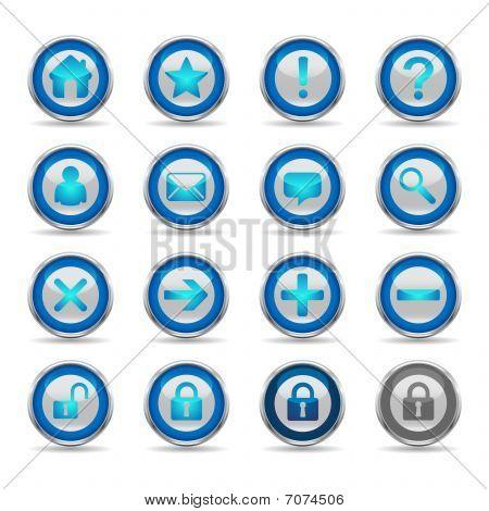 Shiny Blue Icons - Set 1 - Web