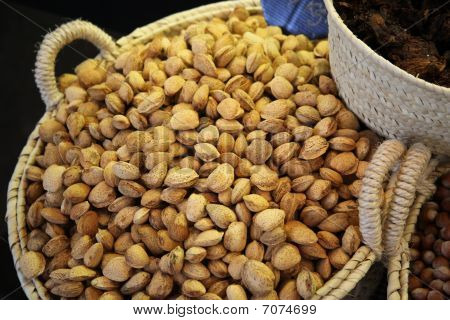 Almonds In Big Basket