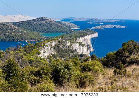 Mediterranean landscape - island Dugi otok National Park Telascica. Rocks poster