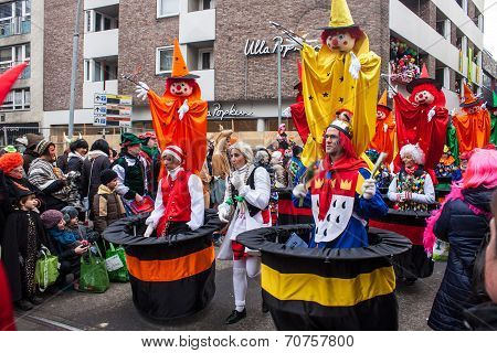 People at a carnival in Cologne
