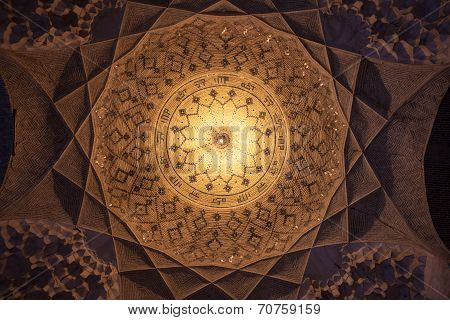 Cupola in Imam mosque in Kerman