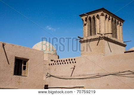 One of traditional adobe buildings