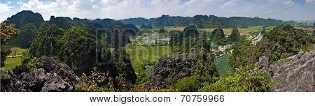 Vietnam limestone landscape