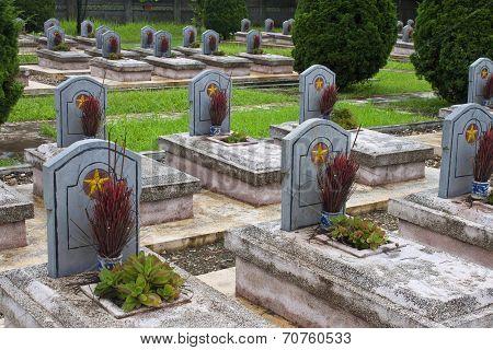 Military cemetery in Dien Bien Phu