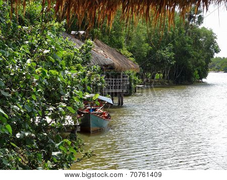 Riverside Scenery In Cambodia