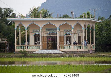 Muslim men in mosque