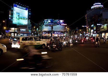 Road Traffic at evening