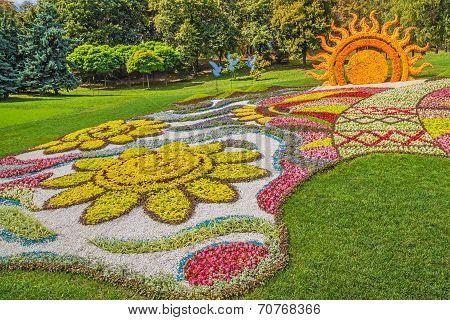 Flower Show Landscape Park In Kiev