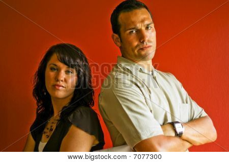 Young Attractive Adult Couple Relationship, Mad, Fight, Angry