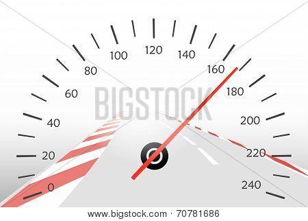 Asphalt Track And Speedometer