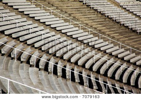 Curved Rows Of Seats In Stadium
