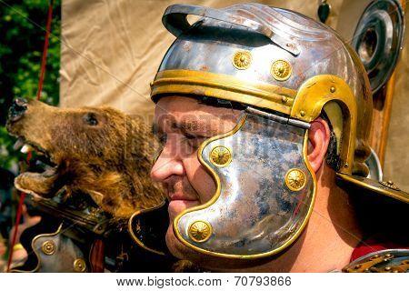 Closeup Of Roman Soldier