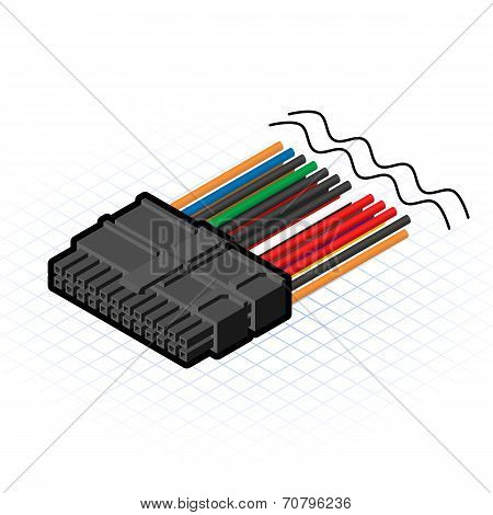 Isometric 24 Pin Connector