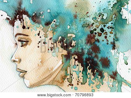art portrait woman