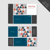 modern geometric style half-fold template for business advertising brochure poster