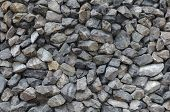 Crushed granite gravel abstract background texture closeup poster