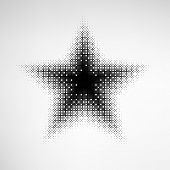 Halftone Star with square shape dots. EPS10 vector. poster