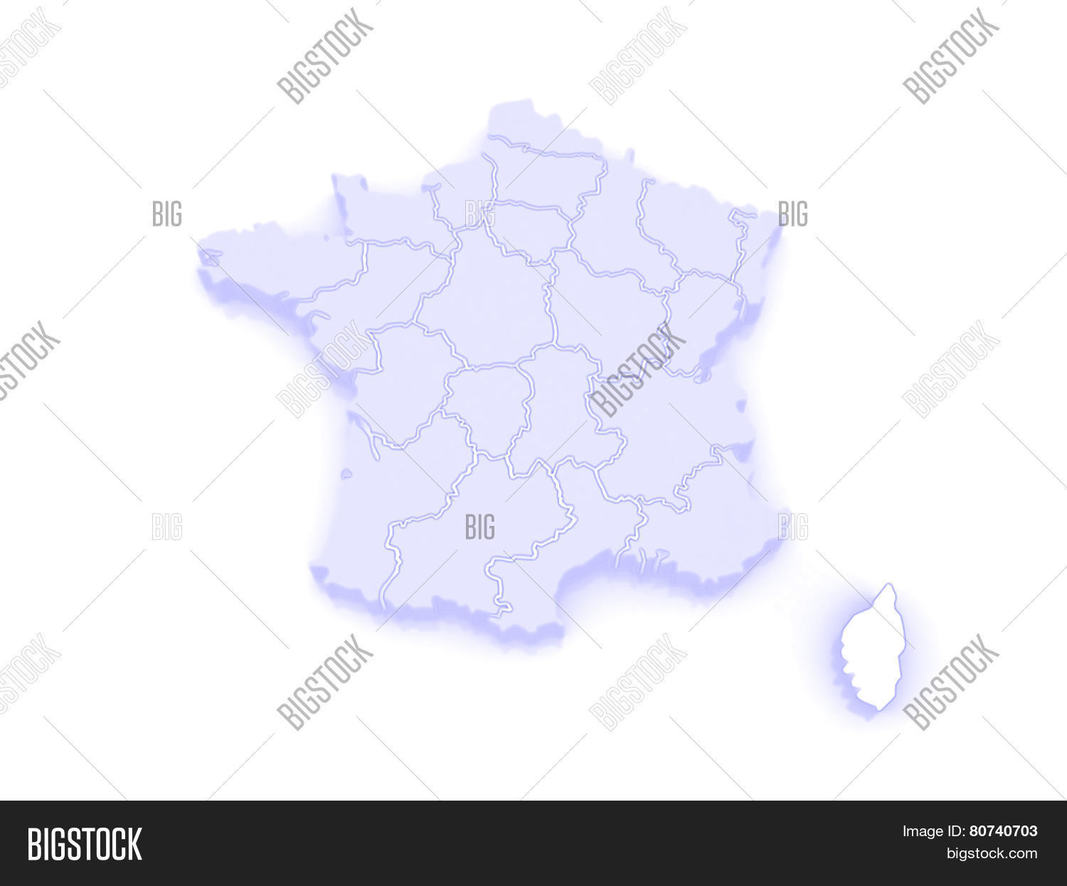 Map Corsica France Image Photo Free Trial Bigstock
