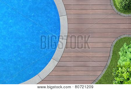 garden architecture with pool