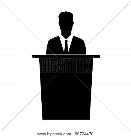 Speaker Vector Silhouette