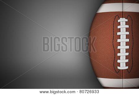 American Football Ball On Gray