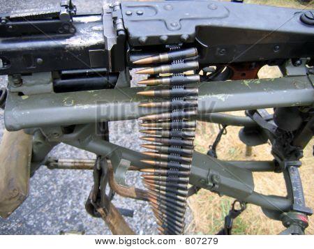 Machine Gun Closeup