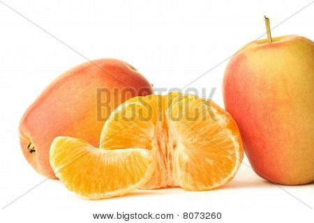 Two Apples And Mandarin