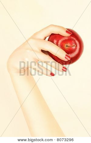 Hand With Red Apple