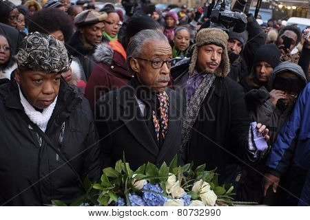 Rev Sharpton with Gwen Carr
