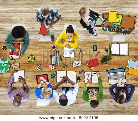 Library University Studying Students Education School Concept