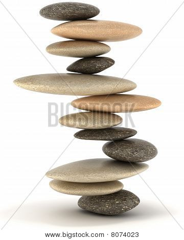 Stability And Zen Balanced Stone Tower