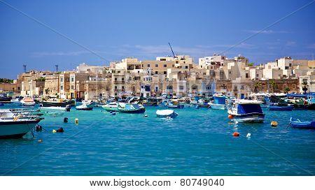 Maltese Fishing Village In Marsaxlokk Malta