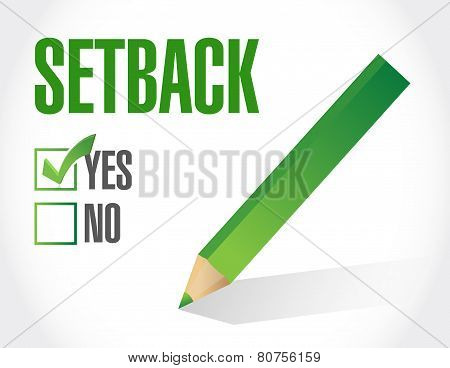 Yes To A Setback. Check List Illustration