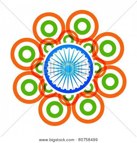vector creative indian flag design made with tri color circles