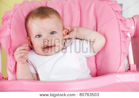 Baby In The High Chair