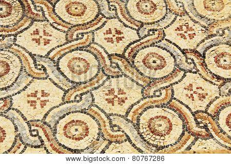 Mosaic Tile Floor in Caesarea Maritima National Park