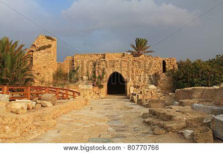 Crusaders Gate in Caesarea Maritima National Park