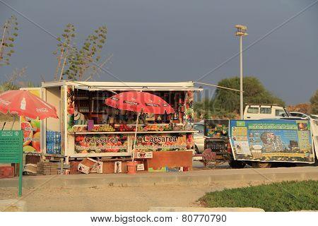Concession Stand outside Caesarea Maritima National Park