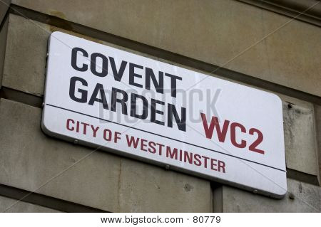 Covent garden street sign poster
