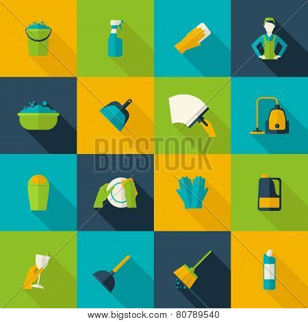 Cleaning Icon Flat